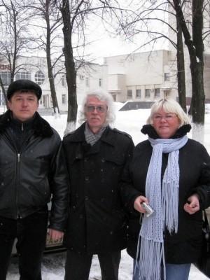 С вологодскими друзьями. Радиоведущий Алексей Сальников и журналистка Татьяна Охотникова.
