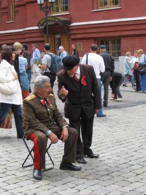 """09.07.2009г. Москва. У Красной площади: - """"Говорил я тебе, не так надо было!.."""""""
