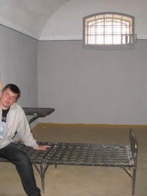 05.07.2009г., Санкт-Петербург. Петропавловская крепость. Одиночная камера тюрьмы Трубецкого бастиона. Кто здесь только не сидел...