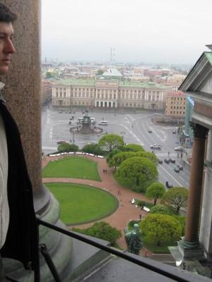 Санкт-Петербург, 17-19.05.2008г. Вид с колоннады Исаакиевского собора.