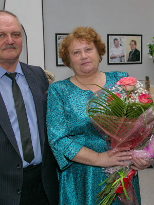 Автор книги-Е.Бирюкова и фотохудожник О.Самедов